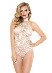 Chloe Lace Playsuit Champagne S/M