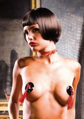 PASTIES BLACK RED