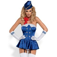 Stewardess Corset Costume L/XL